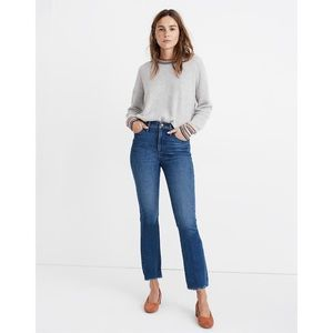 Madewell Cali Demi Boot Jeans in Columbus Wash
